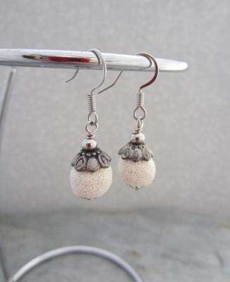 speciale promotie top kwaliteit behoorlijk goedkoop oorbellen (edelstaal)lava wit